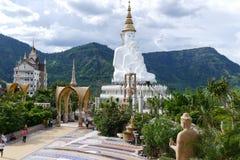 5 white buddha statue Royalty Free Stock Photo