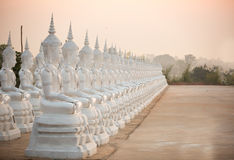 White Buddha statue Royalty Free Stock Photo