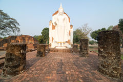 White Buddha statue Royalty Free Stock Photography