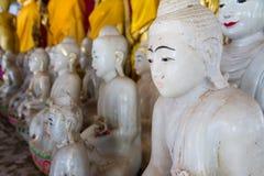 White Buddha Statue in temple at Wat Somdej Sangkhlaburi, Kancha Stock Photography