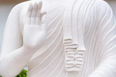 White buddha statue. The White buddha statue in Thai temple Stock Photography