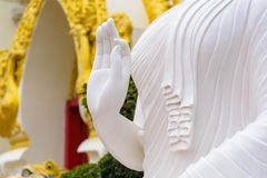 White buddha statue. The White buddha statue in Thai temple Royalty Free Stock Images