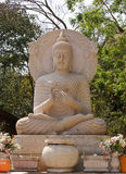 White buddha statue in Thailand Royalty Free Stock Photo