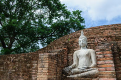 White Buddha statue Stock Photos