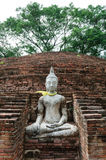 White Buddha statue. In Thailand Stock Images