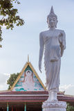 White buddha statue walking Royalty Free Stock Image