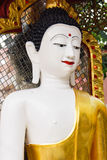 White buddha statue in Wat Phrathat temple on Doi Suthep Royalty Free Stock Photography