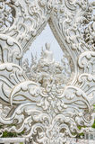 White buddha statue in the white temple Royalty Free Stock Photography