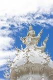 White buddha status Royalty Free Stock Photo