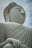 White buddha, Thailand. Big white Buddha in Thailand Royalty Free Stock Image