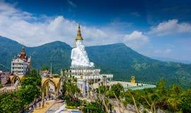 White buddha in Wat Phra That Pha Son Kaew temple at Phetchabun royalty free stock image