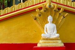 White buddha in Wat Sangkat Rattana Khiri on Khao Sakae Krang mo Royalty Free Stock Images