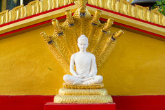White buddha in Wat Sangkat Rattana Khiri on Khao Sakae Krang mo. Untain in Uthai Thani, Thailand Stock Photo