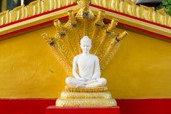 White buddha in Wat Sangkat Rattana Khiri on Khao Sakae Krang mo Stock Photo