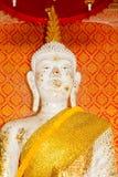 White buddha at Wat Ton Chumsaeng Temple. Phichit, Thailand. March 29, 2017 : White buddha at Wat Ton Chumsaeng Temple. Phichit, Thailand Royalty Free Stock Photography