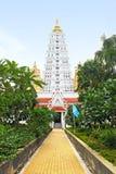 White buddhagaya pagoda, Thailand royalty free stock image