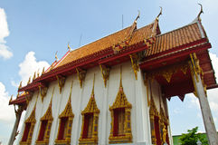 White Buddhist Church in Thailand Stock Images