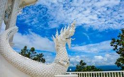 White buddhist dragon. Stock Photo