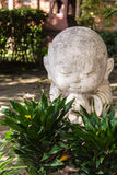 White buddhist novice made of clay, Thai style Royalty Free Stock Photography