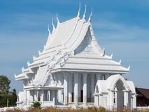 White Buddhist temple in Thailand. White Buddhist temple in Huai Yai, near Pattaya in Banglamung, Chonburi Province, Thailand Royalty Free Stock Photo