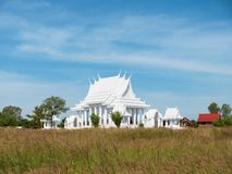 White Buddhist temple in Thailand. White Buddhist temple in Huai Yai, near Pattaya in Banglamung, Chonburi Province, Thailand Stock Photo