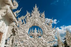 White Buddhist temples Royalty Free Stock Photography