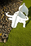 White Buffalo Jigsaw. Stands on the lawn Royalty Free Stock Photos
