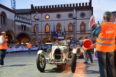 A white Bugatti T35A Stock Photo