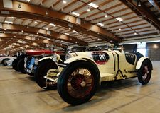 White Bugatti Type 35 built in 1925, vintage cars Royalty Free Stock Photos