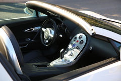 White Bugatti Veyron Interior Stock Photography