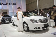 White buick excelle gt car Royalty Free Stock Photography