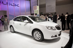 White buick excelleGT car Royalty Free Stock Image