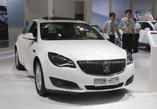 White buick regal car. 2014, June 27 -30, west taiwan strait auto expo held in amoy city, china Royalty Free Stock Photography