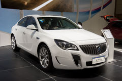 White buick regal gs car. In 2014 central china international auto expo Stock Photography