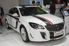 White buick regal gs car. New white buick regal gs car in 2014 the 10th zhengzhou dahe spring international auto show.take from zhengzhou henan china Stock Image