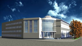 White building. Illustration of white office building Stock Photography