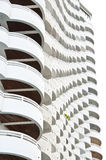White building. White building with beautiful terrace design Royalty Free Stock Photography
