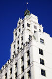 White Building against Blue Sky. Seen in downtown Memphis, Tennessee, USA Stock Image
