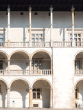 White building with balconies Stock Image