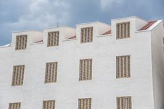 White building with beautiful windows. Stock Photography