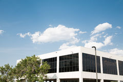 White Building with Black Windows Under Blue Sky Royalty Free Stock Images