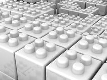 White building blocks Royalty Free Stock Images