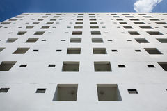 White building on blue sky Royalty Free Stock Photo