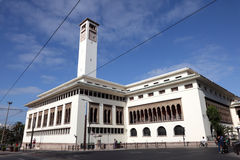 White building in Casablanca, Morocco Royalty Free Stock Images
