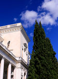 White building with columns Stock Photo