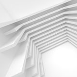 White Building Construction. Abstract Architecture Background Stock Photos