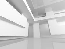 White Building Construction. Abstract Architecture Background Royalty Free Stock Photo