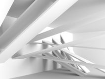 White Building Construction Abstract Architecture Background. 3d Render Illustration Royalty Free Stock Images