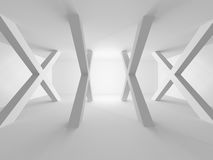White Building Construction. Abstract Architecture Background. 3d Render Illustration Stock Photo