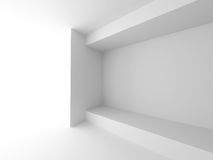 White Building Construction. Abstract Interior Background Stock Photo